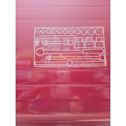Cassetta chiavi a bussola USAG 613 3/4 EP in pollici